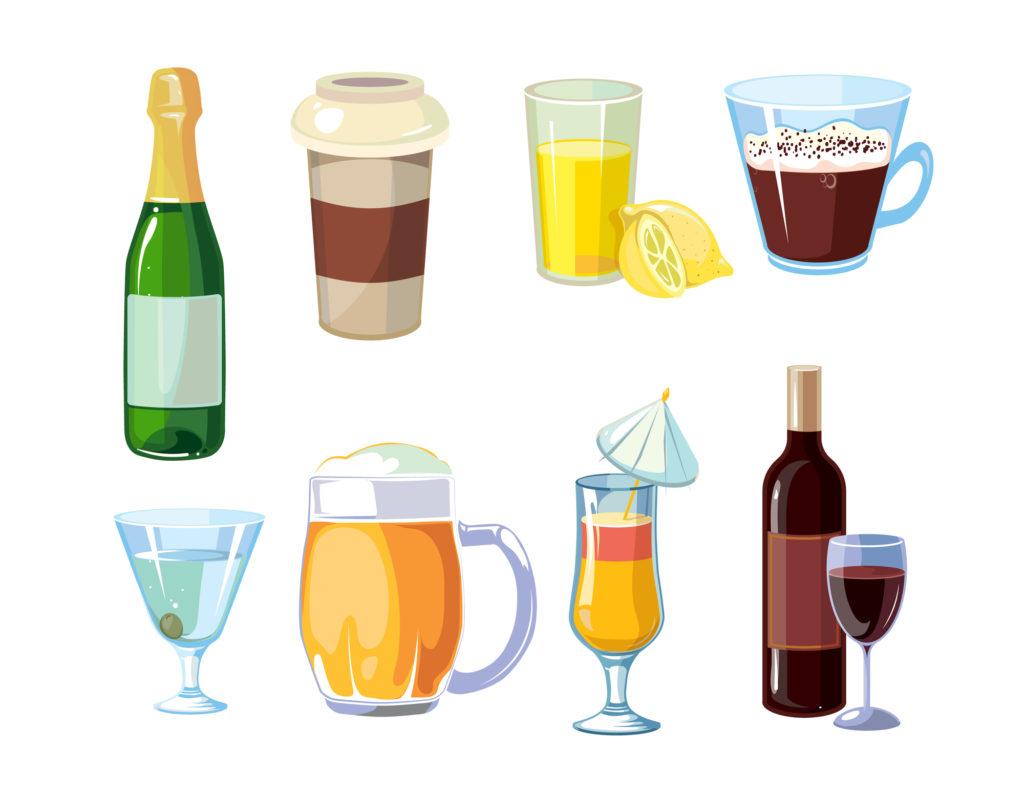 着色しやすい飲物